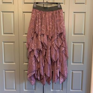 Free People Tiered Ruffled Maxi Skirt
